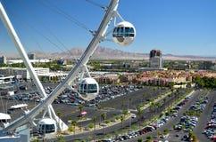 在城市,拉斯维加斯,内华达,美国上的拉斯维加斯Skyroller客舱 免版税库存照片