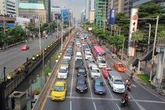 在城市,曼谷,泰国交易 免版税库存图片