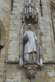 在城镇厅, Stadhuis,布鲁日的雕象 免版税库存照片