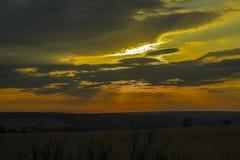 在域的日落 免版税图库摄影