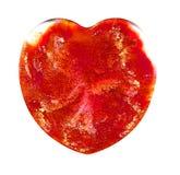 在培养皿的可变的艺术 五颜六色的酒精,墨水,在培养皿的居住的五颜六色的心脏细菌 免版税库存图片