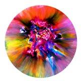 在培养皿的可变的艺术 五颜六色的酒精,墨水,在培养皿的居住的五颜六色的细菌 免版税库存照片