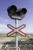 在培训途径的交通信号  免版税库存图片