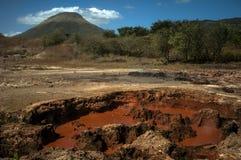 在基地的Volcan Telica,尼加拉瓜 免版税库存照片