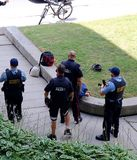 在基奇纳,滑铁卢,安大略维持拘捕人治安 免版税图库摄影