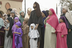 在基督受难剧期间的演员 免版税库存照片