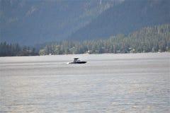 在基督徒湖的小船 图库摄影