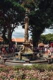 在基督教会的喷泉是18世纪英国国教的教堂在市马六甲,马来西亚 库存照片