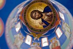 绘画在基督教会里 库存照片