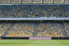 在基辅奥林匹克体育场里面 免版税库存图片