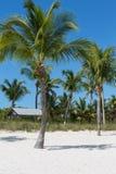 在基韦斯特东边的可爱的海滩 免版税库存照片
