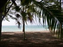 在基韦斯特岛的沈默海滩 免版税库存图片
