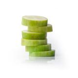 在堆的切的黄瓜 免版税库存图片