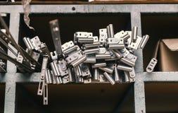 在堆的钢金属棒 库存图片