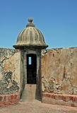 在堡垒圣克里斯托瓦尔圣胡安波多黎各的监视 库存图片