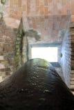 在堡垒地堡的大炮 库存图片