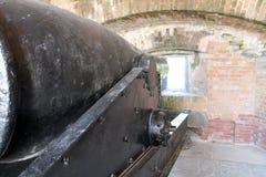 在堡垒地堡的大炮 免版税库存图片
