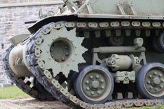 在堡垒的军事坦克,魁北克的Citadelle, 图库摄影