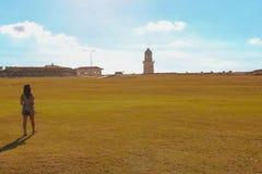 在堡垒的灯塔在哈瓦那 免版税库存照片