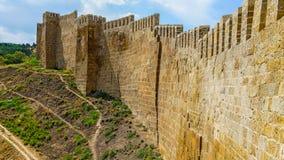在堡垒纳伦卡拉的墙壁,杰尔宾特 免版税库存图片