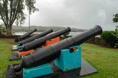 在堡垒詹姆斯,多巴哥的大炮 图库摄影