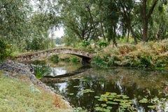 在堡垒附近的桥梁在Radomyshl,乌克兰 免版税库存照片