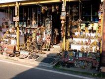 在堡垒高知,喀拉拉的老市场 库存照片