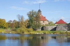 在堡垒Korela的10月天 Priozersk,列宁格勒地区 免版税库存图片