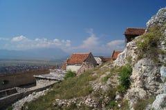 在堡垒Rasnov里面,罗马尼亚 免版税库存照片