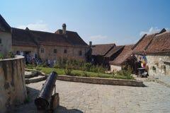 在堡垒Rasnov里面,罗马尼亚 库存照片