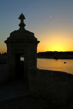 在堡垒St安吉洛,盛大港口,马耳他的Gardjola 免版税库存照片