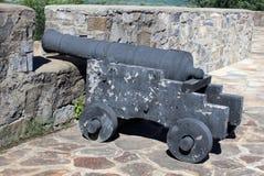 在堡垒Ticonderoga的大炮 免版税库存图片