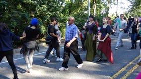 在堡垒Tryon公园8的2013中世纪节日 图库摄影
