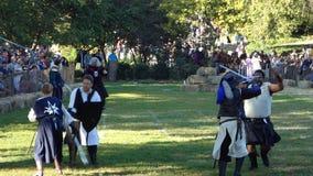 在堡垒Tryon公园62的2013中世纪节日 免版税库存照片