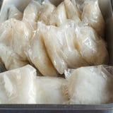 在塑料套的黏米饭组装 图库摄影