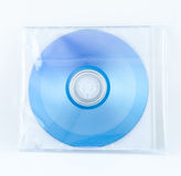 在塑料套的CD的案件箱子 免版税库存图片