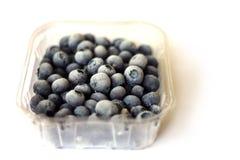 在塑料封装03的蓝莓 库存照片