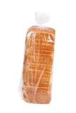 在塑料的切的面包。 免版税库存照片