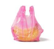 在塑料袋的香蕉 库存照片
