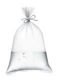 在塑料袋的水 免版税库存图片