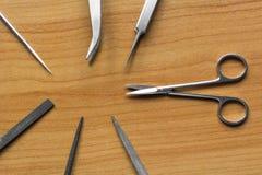 在塑造的工具中的剪刀 图库摄影
