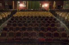 在塔博尔歌剧院里面在Leadville,科罗拉多 免版税库存照片