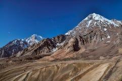 在塔吉克斯坦的干旱的谷 免版税库存照片