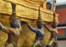 巨型寺庙Wat Phra Kaew曼谷泰国 免版税库存图片