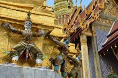 巨型寺庙Wat Phra Kaew曼谷泰国 库存照片