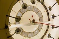 在塔时钟里面 库存图片