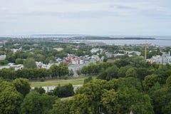 在塔林郊区的看法在爱沙尼亚 库存图片