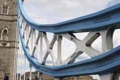 在塔桥梁的大梁详细资料。 伦敦。 英国 图库摄影