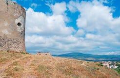 在塔的云彩 免版税库存照片
