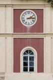 在塔的时钟 免版税库存图片